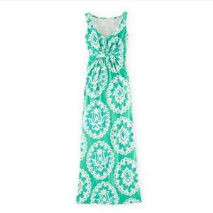 BODEN Printed Jersey Maxi Day Dress WH752 Sz 10